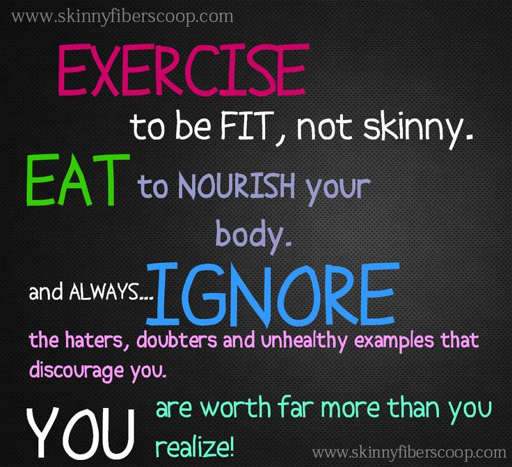 exercise to be fit not skinny
