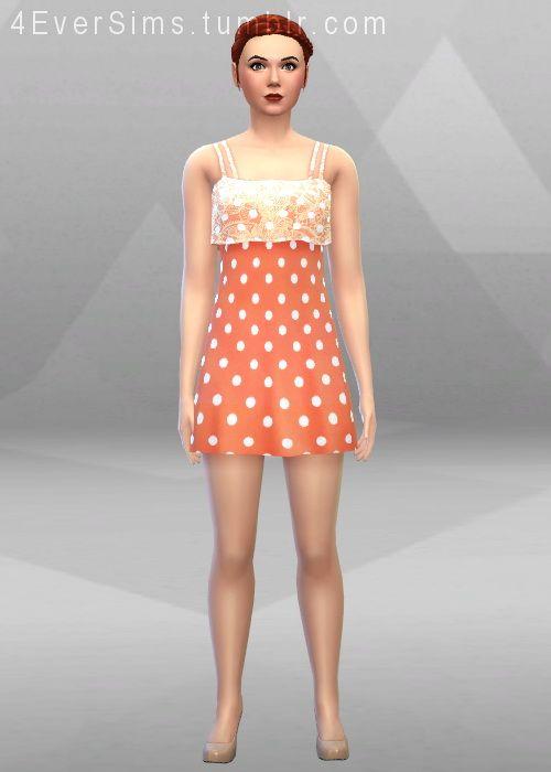 Sims 4 white dress 4 ay