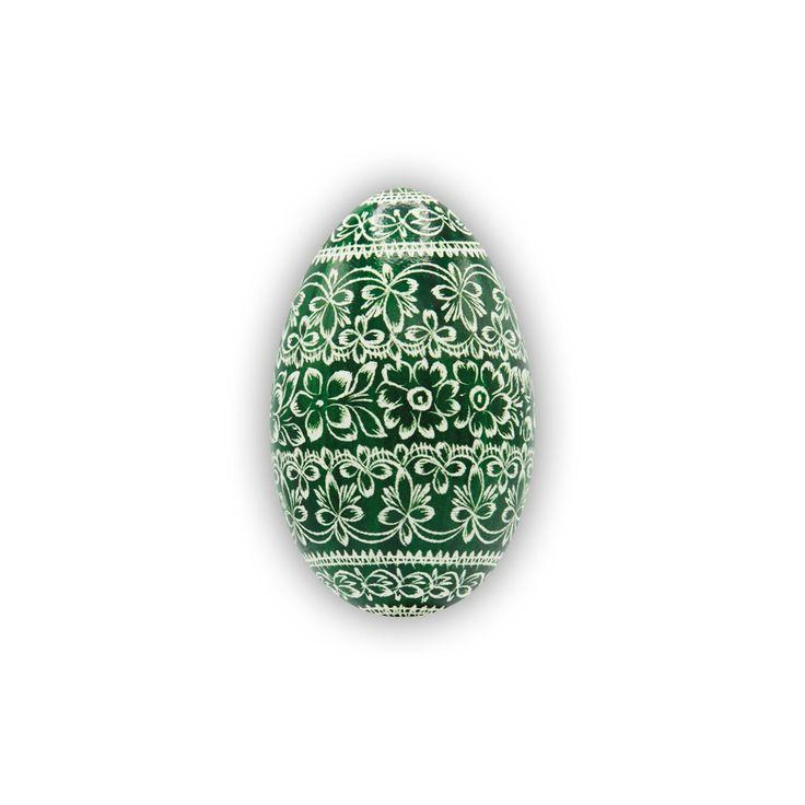Velikonoční kraslice vyškrabovaná husí jednobarevná vzor hj-0140 – Borkovanské kraslice