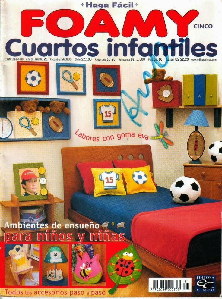 decorar cuartos infantiles con foamy