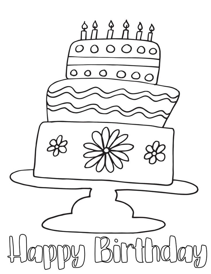 Free Birthday Cake Coloring Page # ...