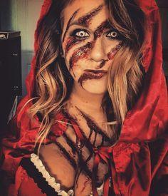 Resultado de imagem para maquiagens para halloween chapeuzinho vermelho