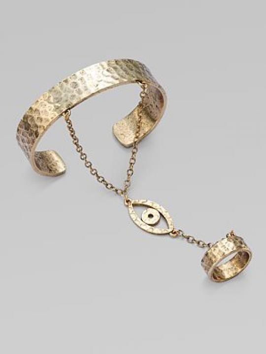 Bracelets with ring   Bracelet Chain Rings / Wedding Style Inspiration / LANE