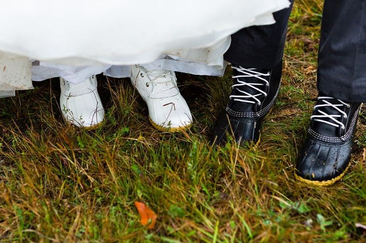 It's an #LLBeanWedding!  Congratulations to Kelsie and Rob.  Photo: Kate Crabtree Photography #Maine #LLBean #BeanBoots