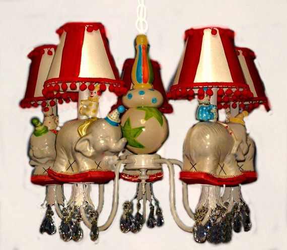 Nursery Chandelier Vintage Circus - Circus Decor -  Circus Room on Etsy, $350.00