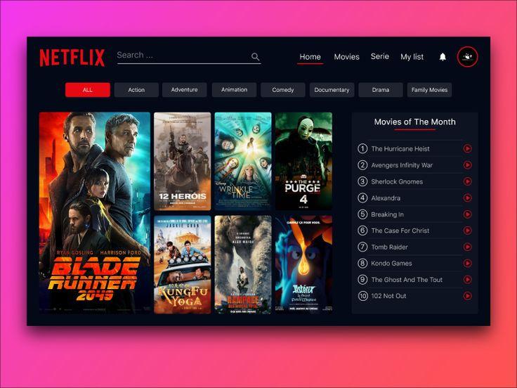 Netflix redesign concept website 1 netflix netflix