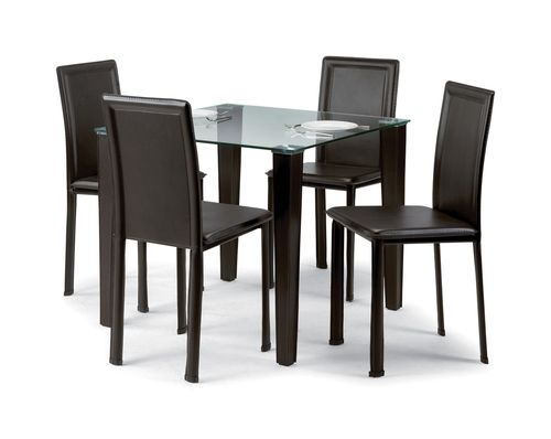 Quattro Dining Gl Chair Black Contemporary