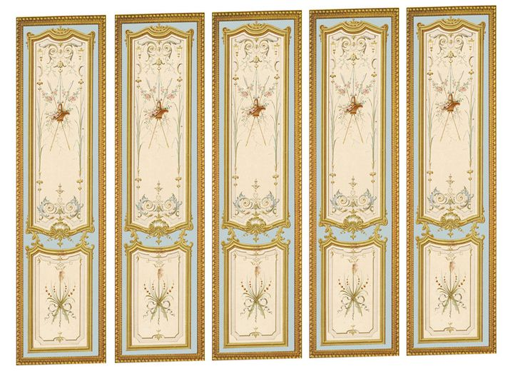 Victorian wall panels wallpaper 1 12th or 1 for Wallpaper sheets for walls