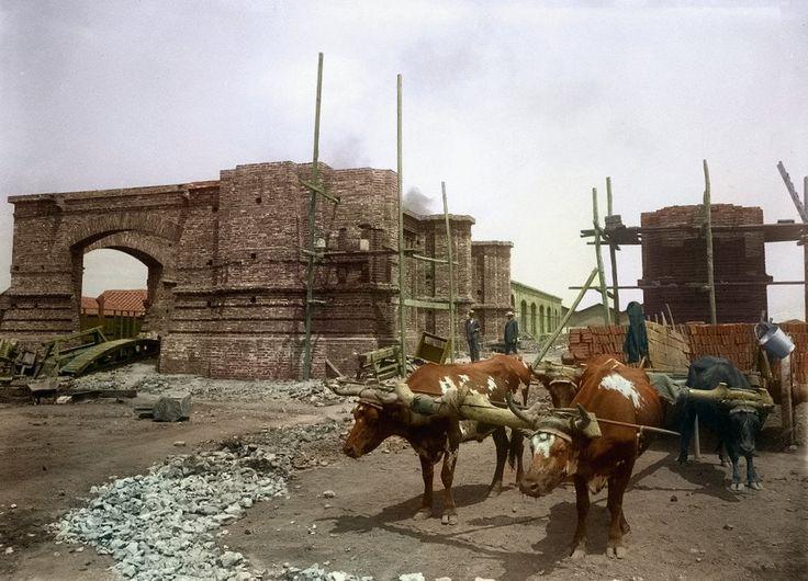 Obra de restauracion Estacion Mapocho 1905