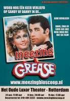 Aankondiging vertoning van de film Grease met de gelegenheid om mee te zingen in het (Oude) Luxor Theater op 24 november, 14 en 15 december 2002
