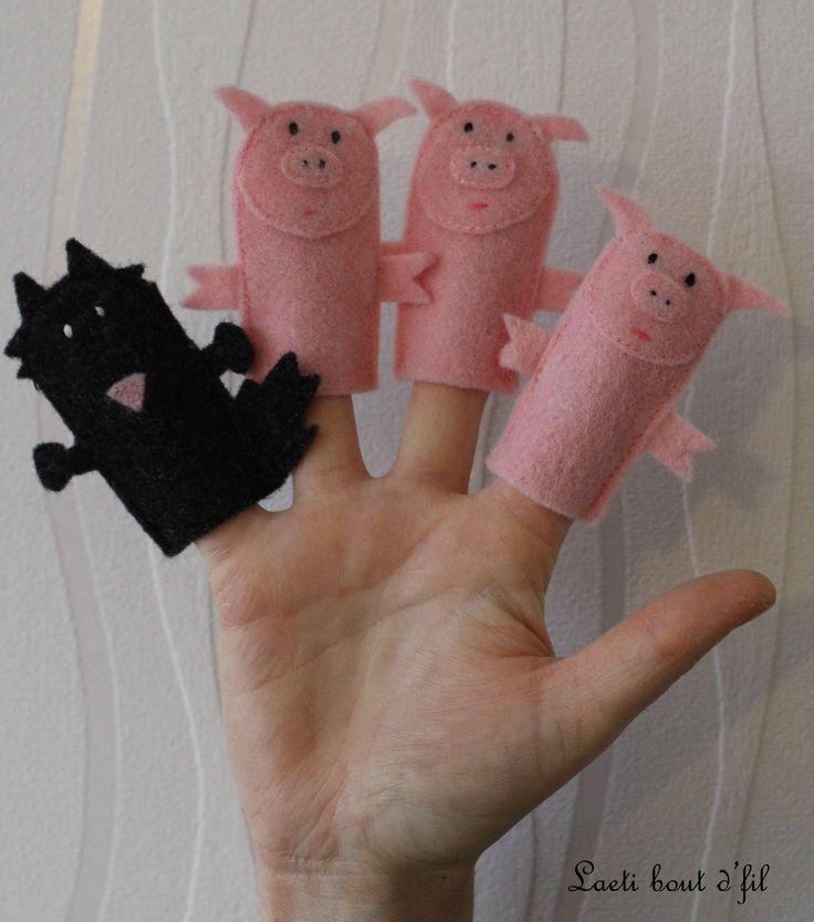 marionnettes à doigts petits cochons