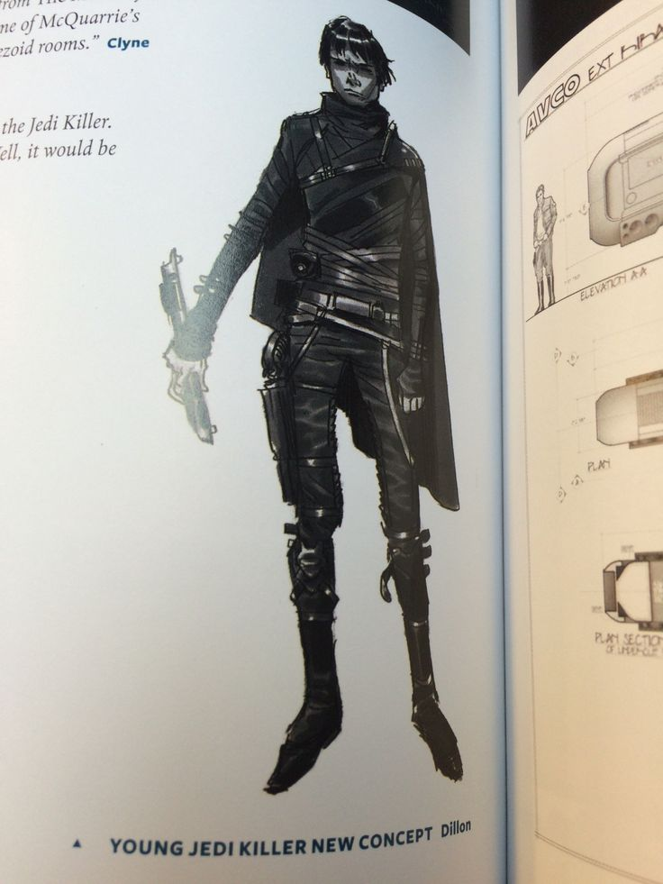 Early concept for Kylo Ren, then called the Jedi Killer