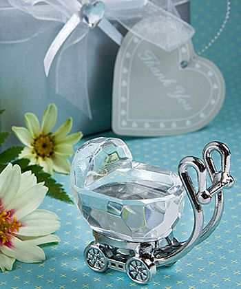 Crystal Baby Carriage Christening Bomboniere