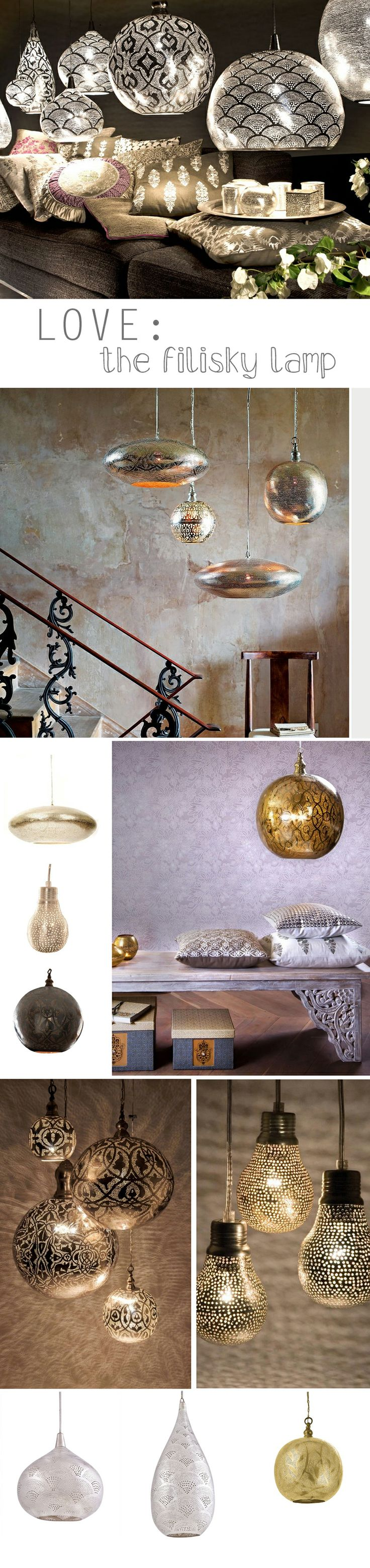 Love: filigrain and filisky lamps | deuxjoli.nl