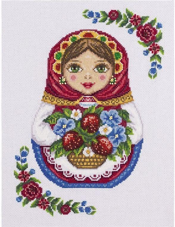 Набор для вышивки крестом Русская матрешка, арт. НМ-1699 Панна