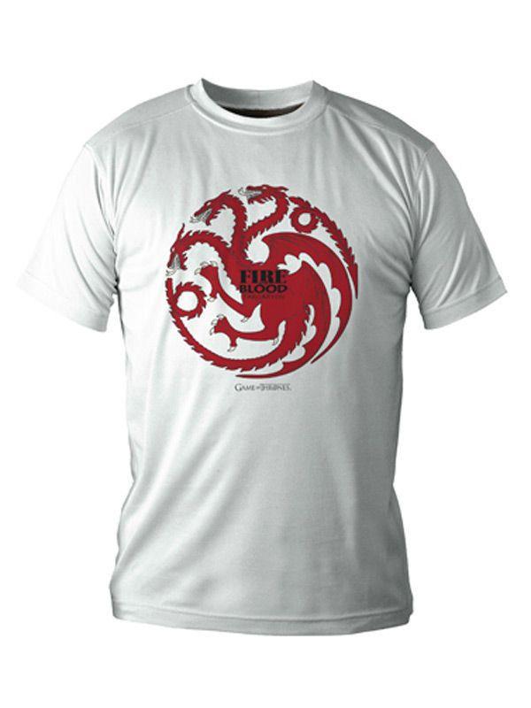 Game of Thrones T-Shirt Targaryen Lizenzware weiss-rot. Aus der Kategorie Fanartikel Film, Serie & Kult. Die Fantasy Saga Game of Thrones begeistert weltweit. Wenn auch Sie zu den Fans der Fantasy-Serie gehören, dann dürfte dieses großartige Game of Thrones Shirt mit dem Wappen des Hauses Tagaryen einfach perfekt für Sie sein.