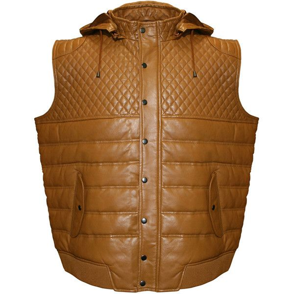 Men's Franchise Club Geo Quilted Hooded Lambskin Leather Vest ($335) ❤ liked on Polyvore featuring men's fashion, men's clothing, men's outerwear, men's vests, mens vest, mens vest outerwear, mens sleeveless vest and mens quilted vest