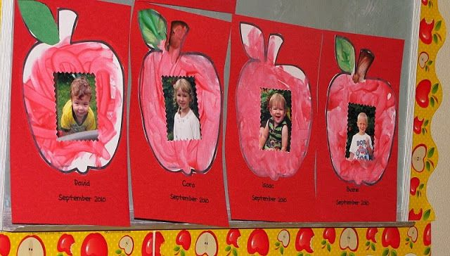 Share and Remember: Apple Shape Painting with Photos - Back to School Keepsake