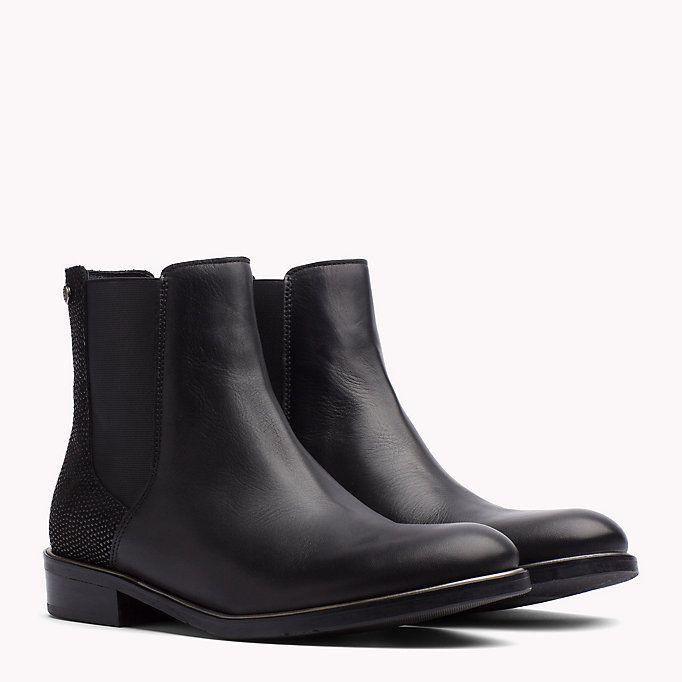 TOMMY HILFIGER Ankle Boots aus Leder - BLACK - TOMMY HILFIGER Schuhe - main image