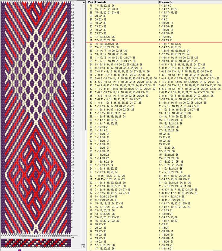 36 tarjetas, 3 colores, repite dibujo cada 60 movimientos // sed_436 diseñado en GTT༺❁