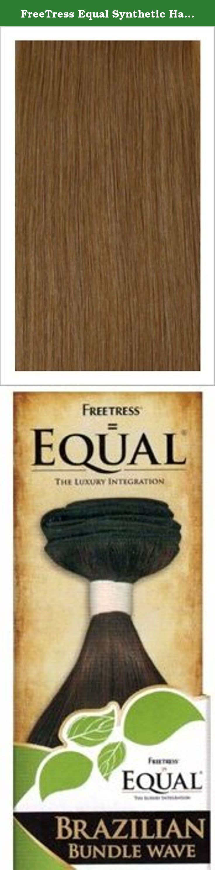 """FreeTress Equal Synthetic Hair Weave Brazilian Bundle Wave [16""""] (27). Already Professionally Colored! Choose The Color You Love! Curling Iron Safe up to 400."""