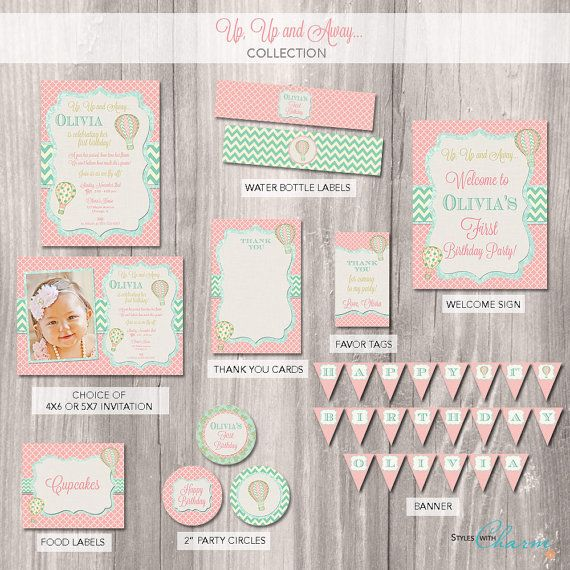 Hot air balloon Party Package hot air balloon by StyleswithCharm