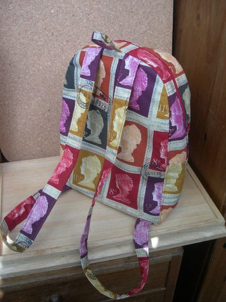 Backpack by Karen.  See how she put this gorgeous bag together. #sewing