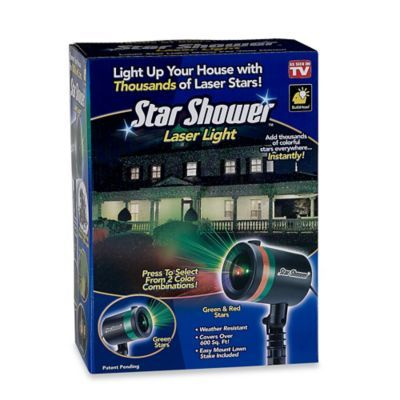 Star Shower™ Laser Light - BedBathandBeyond.com - This has to be what Kathy has shining into the woods, and it's awesome!