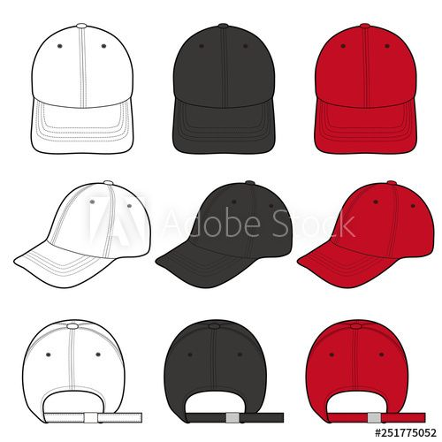 Baseball Cap Fashion Flat Vector Illustration Mockup Design Buy This Stock Vector And Explore Sim Baseball Caps Fashion Fashion Flats Fashion Design Template