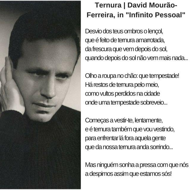 David Mourão-Ferreira | Poema: Ternura