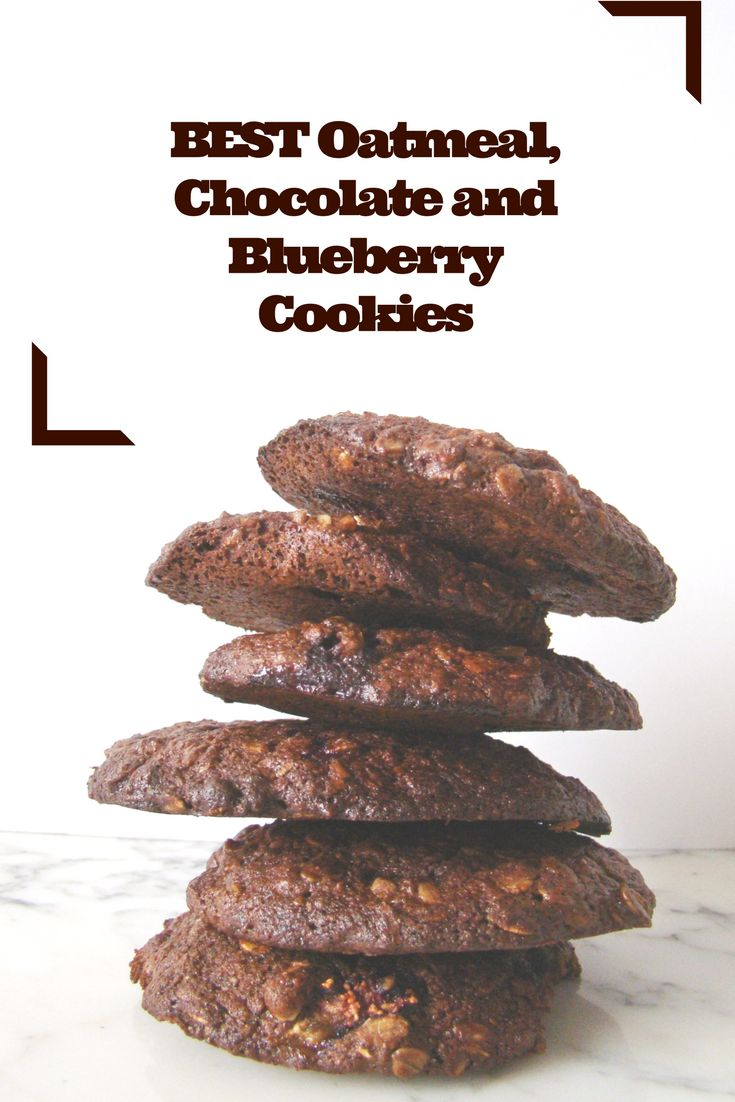 BEST Oatmeal, Chocolate and Blueberry Cookies