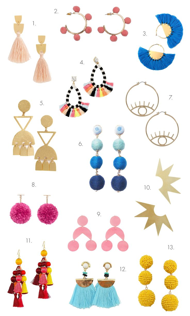 Our Favorite Statement Earrings! | A Beautiful Mess | Bloglovin'