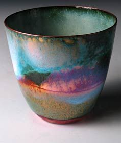 Love this -Enamel on spun copper vessel by Pat Johnson on Craft & Design