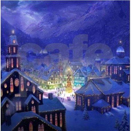 Christmas Town Shower Curtain on CafePress.com