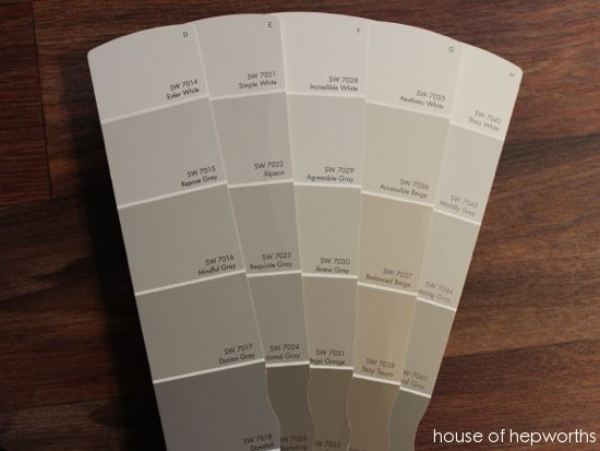 Accessible beige what a great selection of greige colors for Best grey beige paint color