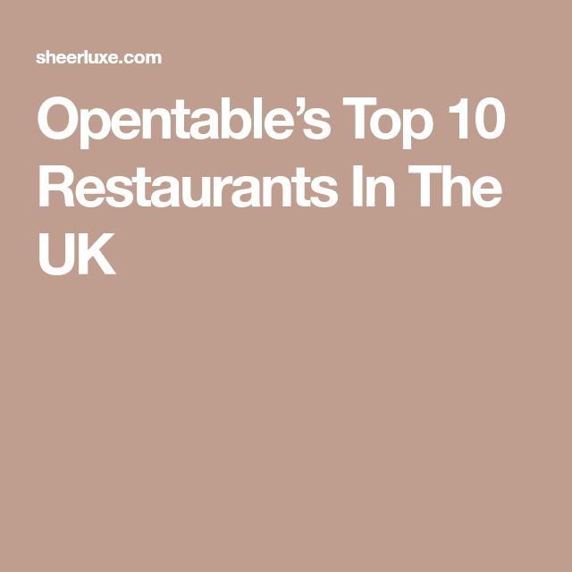 13 best london images on pinterest breakfast breakfast cafe and opentables top 10 restaurants in the uk malvernweather Image collections