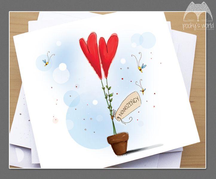 Autorska karteczka ślubna - pookysworld - Kartki ślubne