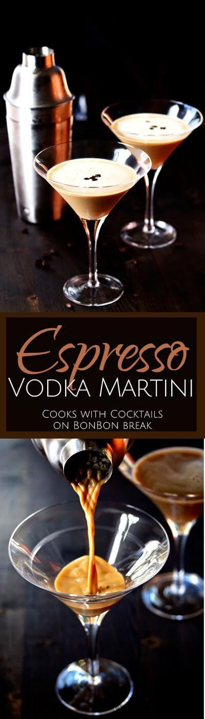 With a boost from both caffeine and booze, this no-kidding-around Espresso Vodka Martini will definitely help get any party started!