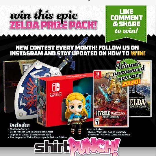 Zelda Age Of Calamity Switch Giveaway Win Zelda Prize Pack Calamity Zelda Master Sword Hyrule Warriors