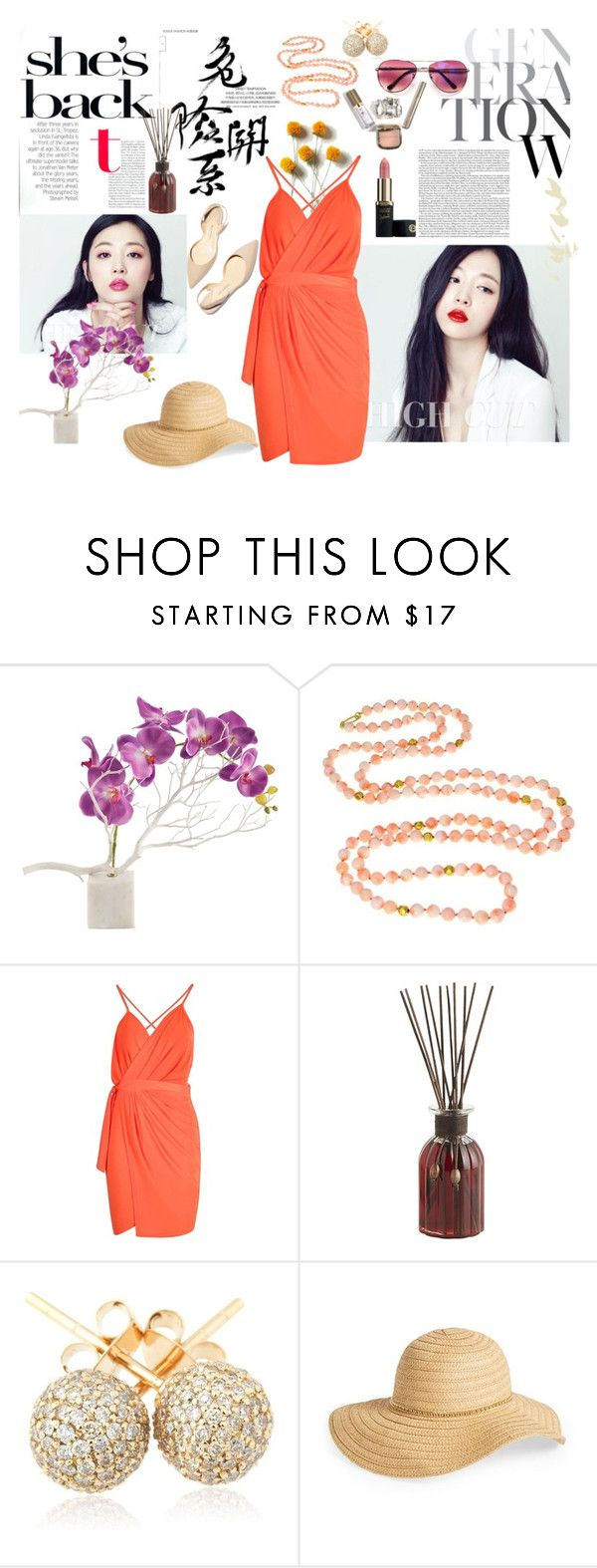 """""""Asian Princess"""" by phoebesnayer ❤ liked on Polyvore featuring Boohoo, Pier 1 Imports, Loushelou, David & Young and Paul Andrew"""