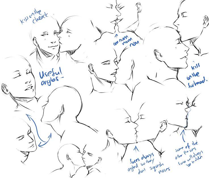 +Kissing pose practice+ by moni158.deviantart.com on @deviantART