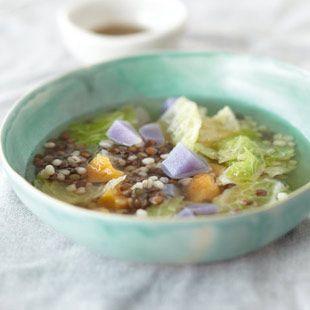 Graupen-Eintopf mit Pesto