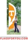 Tennessee Volunteers Tall Team Flag 8.5' x 2.5'