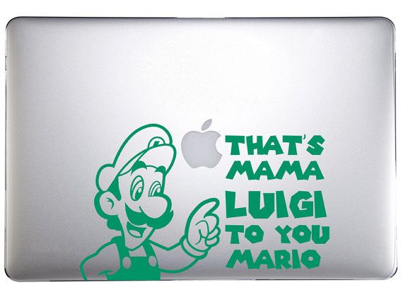 Year of Luigi Mama Luigi Decal