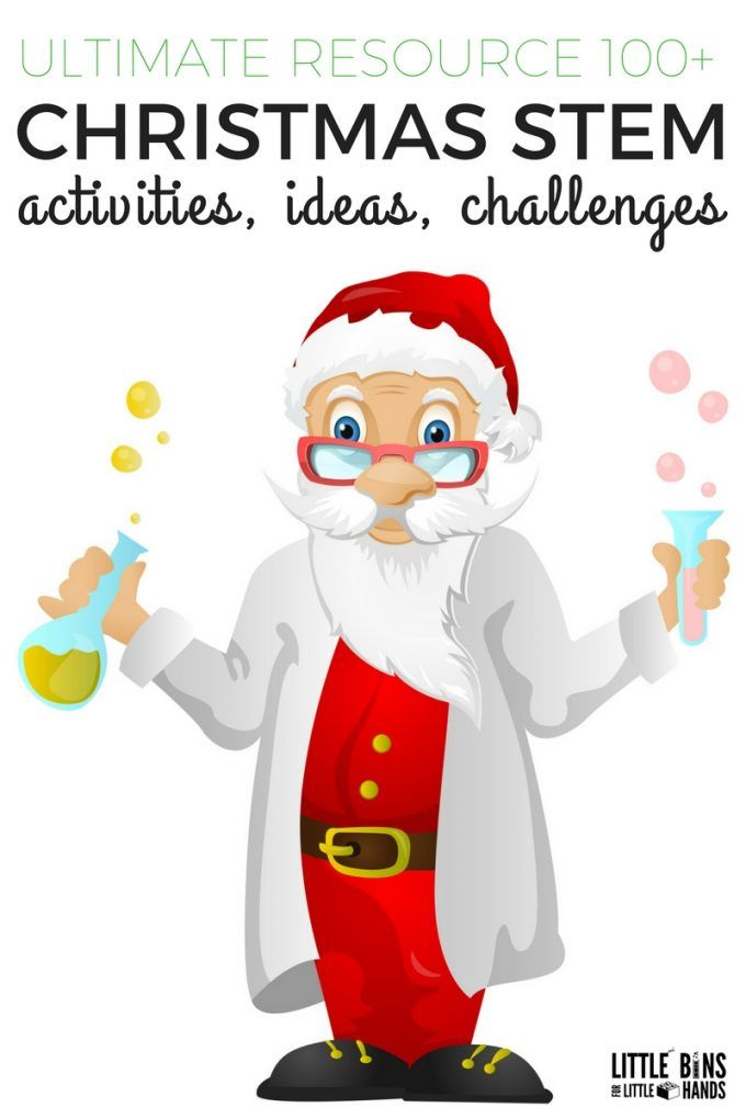 Scientist Santa is here to help Christmas break be filled with fun! Check out these fun STEM Christmas Activities kids will love!