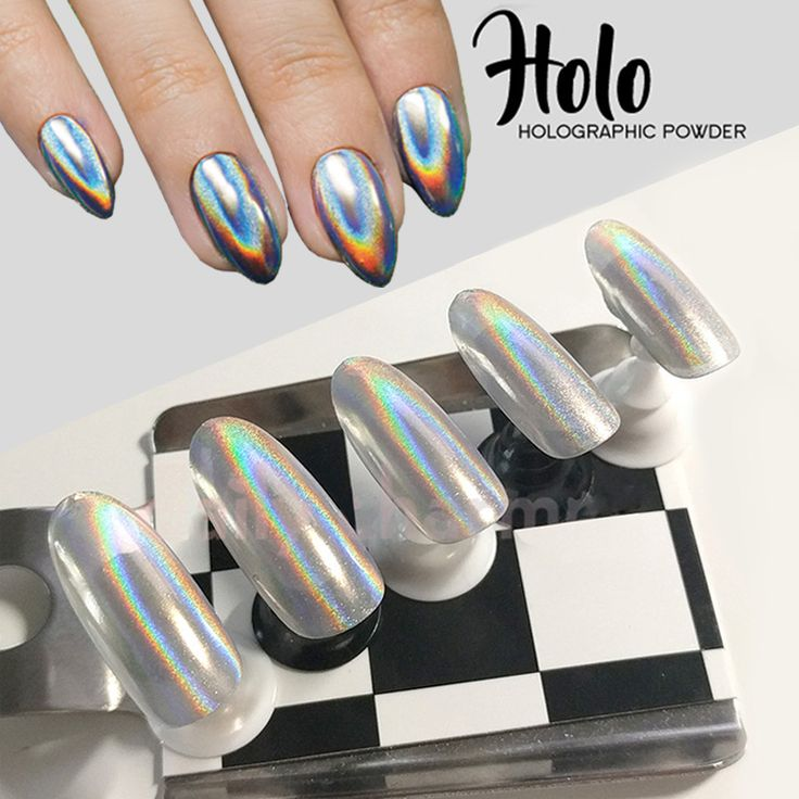 1g/Box New 2016 Rainbow Shinning Mirror Nail Glitter Powder Holographic Nails Dust Laser Holo nail art decorations Pigment * You can get more details by clicking on the image.