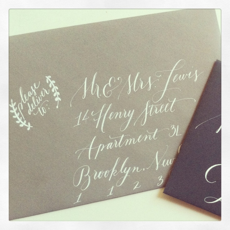 Calligraphy Envelopes For Weddings Events