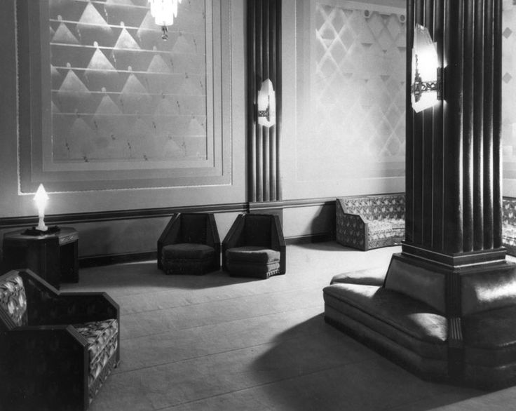 1929 Set Of Lounging Chairs At The Pantages Theatre Jazz AgeBauhausModernismTheatres1920sDecoupageLos AngelesArt