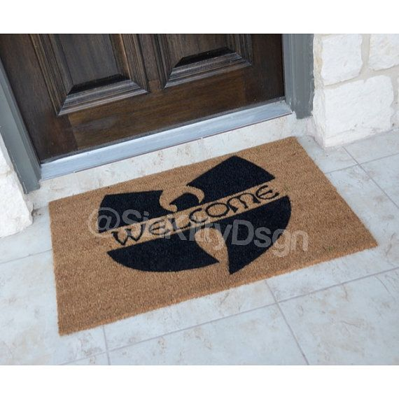 Welcome / Wu Tang inspired Door Mat / Wu Tang by SinKittyDsgn http://www.mancavegenius.org/category/man-cave-design/