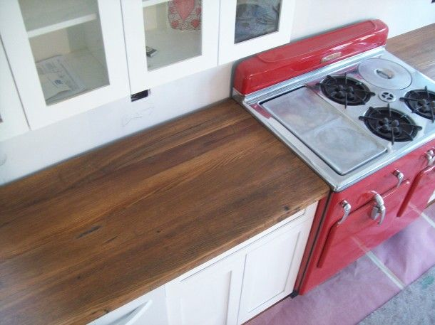 Wood Countertop With Stove : ... countertops red beautiful stove wood beautiful updated color wood